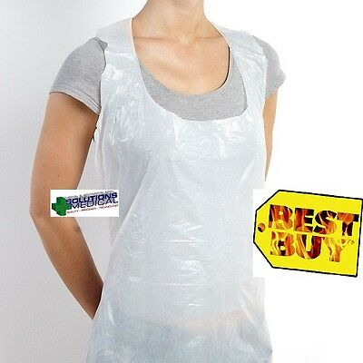 Apron Disposable Pe Water Proof White X 10