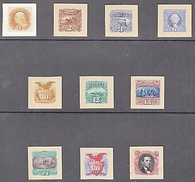 #112P-122P Var. Complete 1869 Plate Proofs From Presentation Album Wl5161