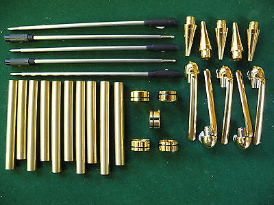 Woodturning EUROPEAN Ball Point Kit in Gold