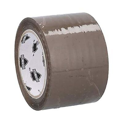 """6 Roll Brown Tan Acrylic Packing Tape Shipping 3"""" Wide 1.8 Mil 110 Yards"""