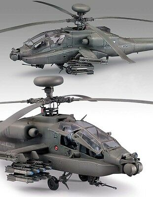 AH-64D Apache Longbow Plastic Model Kit Attack Helicopter Set Academy 1/48 Scale