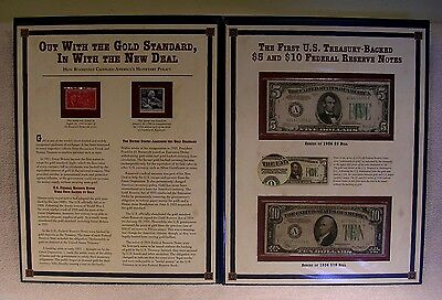 First U.S. Treasury Backed $5 & $10 Federal Reserve Note  $5 1934 C & $10 1934 A