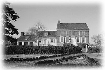 Colonial American architectural house plans, traditional brick country home