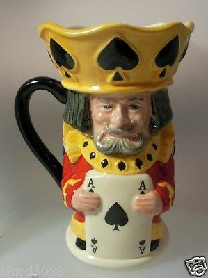 ROYAL-DOULTON KING and QUEEN OF SPADES-TOBY JUG D7087 MINT IN BOX
