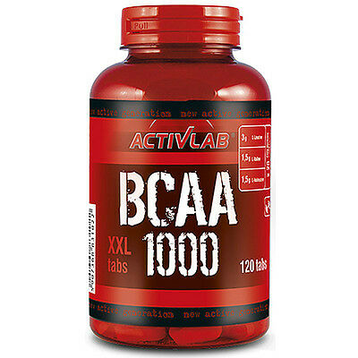 ActivLab Pure BCAA 1000mg - 120 Tablets Branched Chain Amino Acids Pills