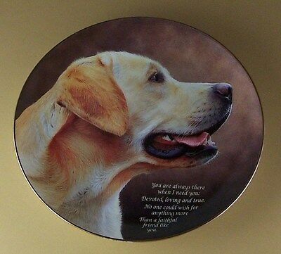 Cherished Labrador Retrievers FAITHFUL FRIEND Plate Lab Labs Dog Yellow Golden