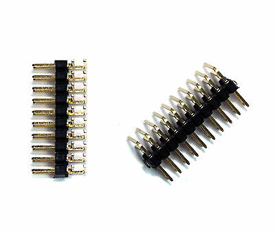 20pc Pitch= 2.0mm 2mm 90° Right Angle Male Pin Header Dual Row 2x20P 2x20 40P