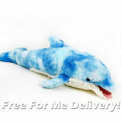 DINKI DI CUDDLES BLUE DOLPHIN STUFFED ANIMAL PLUSH TOY 46cm **FREE DELIVERY**