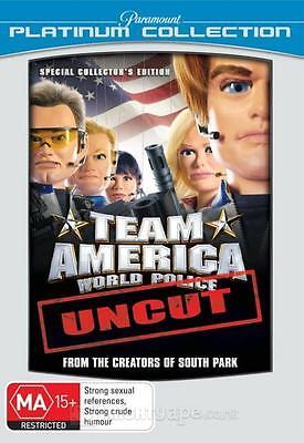 TEAM AMERICA WORLD POLICE DVD ACTION COMEDY TREY PARKER FUNNY REG 4 NEW+SEALED