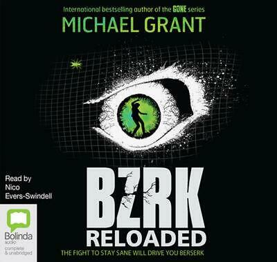 BZRK Book 2: Reloaded by Michael Grant Compact Disc Book Free Shipping!