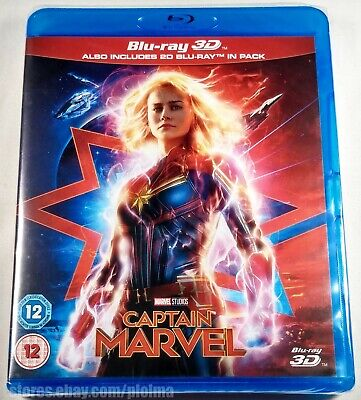 CAPTAIN MARVEL Brand New 3D and 2D Blu-ray Movie 2019 Brie Larson MCU Film Capt
