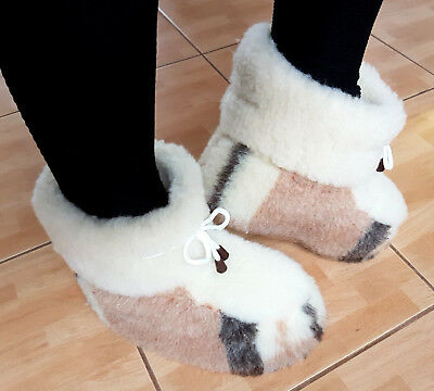 # Slippers Boots 100 %Pure Sheep Wool Shoes 2 3 4 5 6 7 8 9 10 11 12 13 14 mules
