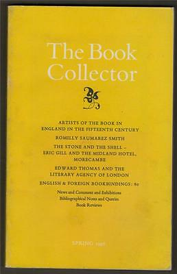The Book Collector 15th Century Artists. Eric Gill Morecambe. Bookbindings b2183