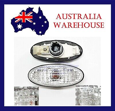Clear Side Turn Signal Blinker Indicator Lights For Nissan Navara D22 D23 Ute 98
