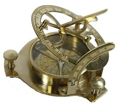 New Antique Style 4'' Nautical Sundial Timer Directional Compass Dial.USA Seller