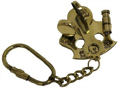 "Nautical 4.5"" Brass Sextant Key chains rings / Collectible / Decor .USA Seller!!"
