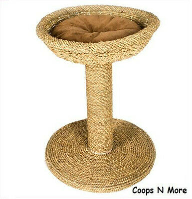 SEAGRASS SCRATCH-N-BED CAT SCRATCH POST GREAT FOR ALL DECOR SCRATCHING CONDO