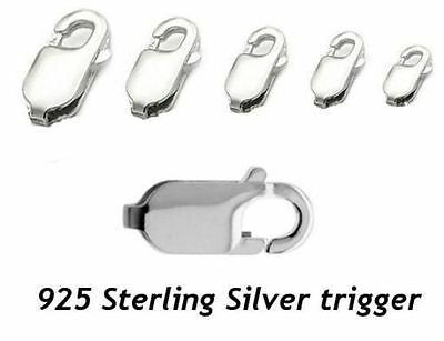 925 Sterling Silver Lobster Trigger Clasp - MULTI from 8mm to 18mm
