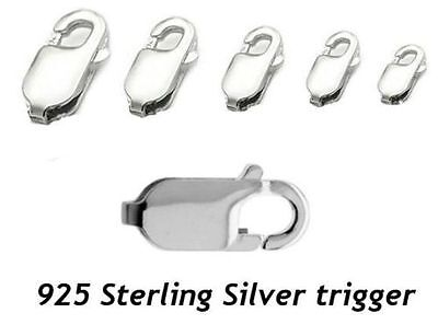s5 925 Sterling Silver bracelet chains Lobster Trigger Clasp size 8mm to 18mm