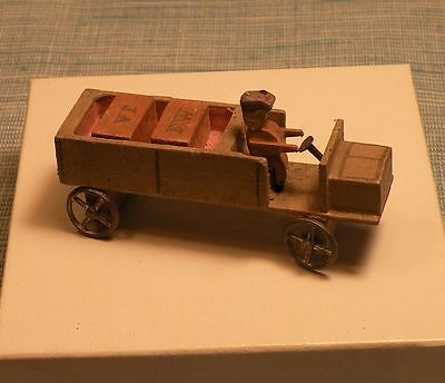 Old German Christmas Wood Erzgebirge Delivery Truck Putz Toy-Rare