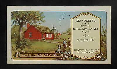 1930s? Blotter Keep Posted Read the Rural New Yorker Weekly 333 West 30th St NYC
