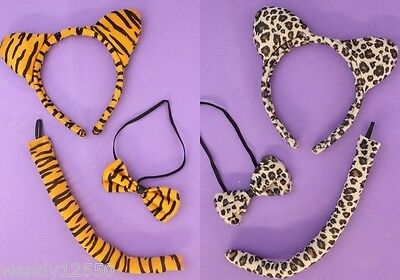 Pack Of 6 Tiger  / Leopard Animal Ears & Tail / Dress-Up Sets : Wholesale : Sp-