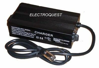 24 Volt 7 Amp Mobility Scooter Wheelchair Battery Charger 24v 7a 8a)