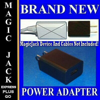 NICE SOUND QUALITY Power Adapter FOR MAGICJACK PLUS Black USB AC Wall Charger