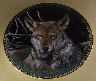 The American Wilderness STILL OF THE NIGHT Plate Martiena Richter Wolf + COA