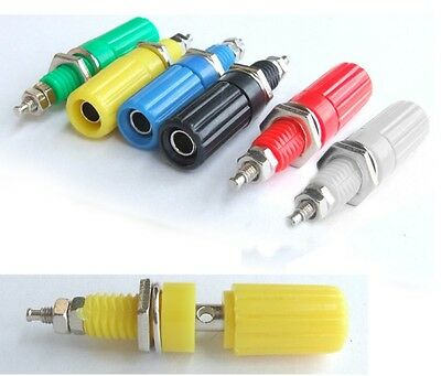 6PCS Binding Post 6 color for 4MM Banana Plug Speaker Amplifier Test probe Cable