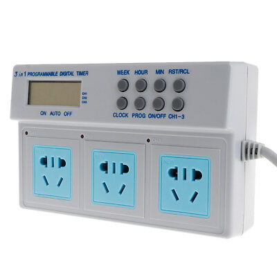AU Plug Highpower Microcomputer Control 3in1 Programmable Digital Timer Socket