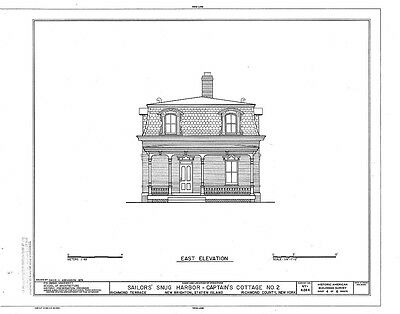 Victorian brick cottage with porches and dormers, architectural floor plans