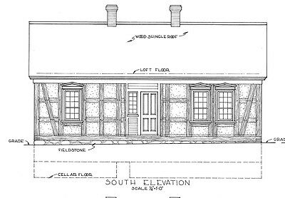 Timber frame cottage, architectural drawings, single story home plan