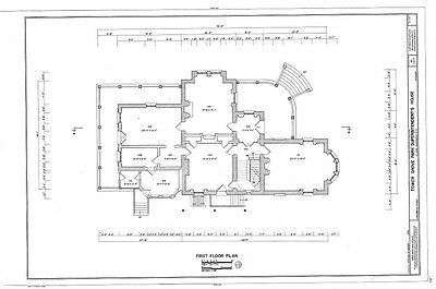Victorian queen anne style architectural home plans tower for Historic italianate floor plans