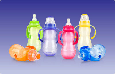 1 NEW Nuby 3 Stage Non-Drip Baby Infant Bottle 7 oz. Sippy Cup Spout