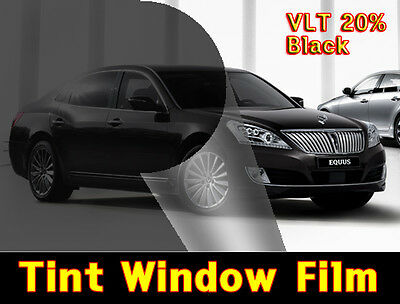 """WIDE:20""""/VLT 20% Black Solar Film/Tint/Window/Glass/1PLY Normal/Privacy/Roll/"""