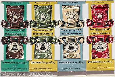 Southern Bell Telephone Company Vintage Rotary Phone Advertising Matchbooks Lot