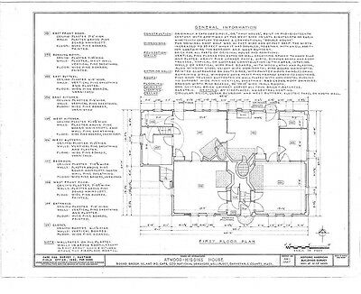 Cape Cod style colonial house, single story plan w/ attic, architectural plans