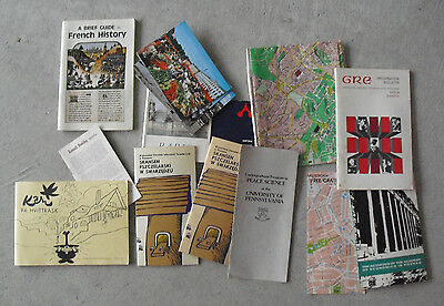 Lot of Vintage 1960s Europe Travel Booklets and Maps LOOK
