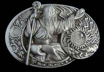WIZARD BELT BUCKLE MASTER OF THE ELEMTAL FORCES NEW! BUCKLES