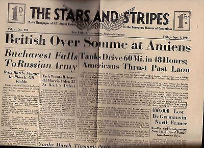 The Stars & Stripes British Over Somme September 1 1944 Terry & the Pirates