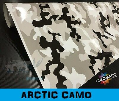 Arctic Camouflage Vinyl 152 x 50cm - Bubble Free Snow Camo Car Wrap Sticker Film