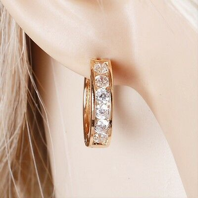 """9ct 9K Yellow """"Gold Filled"""" Ladies Small Hoop Earrings.20mm Gift"""
