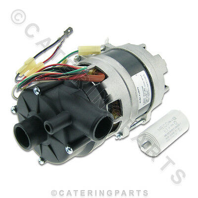 ALBA C&A 902SX 0.10HP DISHWASHER WASH PUMP IN 28mm OUT 28 mm 230V WITH CAPACITOR