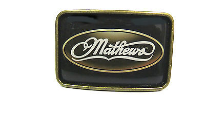 """Mathews Belt Buckle CLEARANCE Fits 1 1/2""""  2 Buckles For Snap on Buckle Belts"""