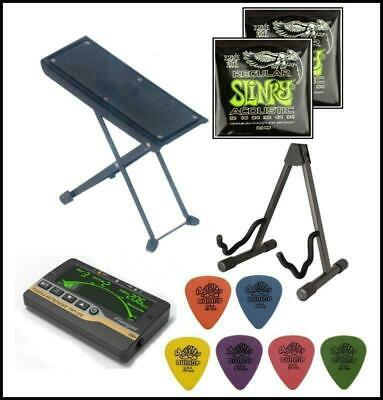 Acoustic Guitar Accessory Starter Pack Ernie Ball Dunlop L.A Stands + Tuner New