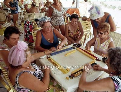 Florida Photo Mahjong Game in Century Village 1972-3