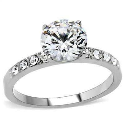 Brilliant Russian Lab Created Sim Diamond Solitaire Engagement Ring Tk198