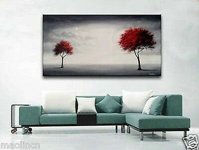 Hand-draw Modern Abstract Huge Canvas Wall Oil Painting-TREE on canvas No Frame