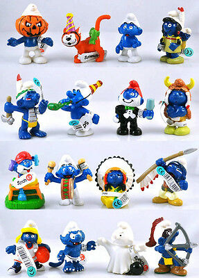 4pcs Lovely The Smurfs FIGURE Collectible Child Boy Girl Toy